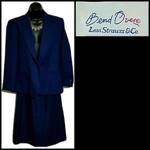 VTG 70s Bend Over Levi Strauss 2 Pc Suit Sz 12/10